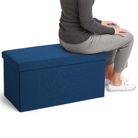 Navy Box Bench,Navy,hi-res