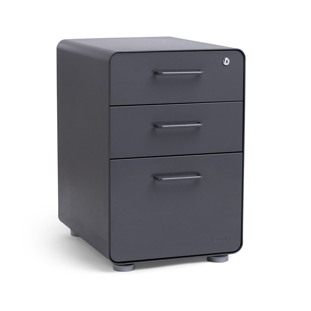 Charcoal Stow 3 Drawer File Cabinet,Charcoal,hi Res. Loading Zoom