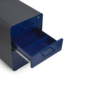 Charcoal + Navy Stow 3-Drawer File Cabinet,Navy,hi-res