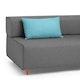 Blue Block Party Lumbar Pillow,Pool Blue,hi-res