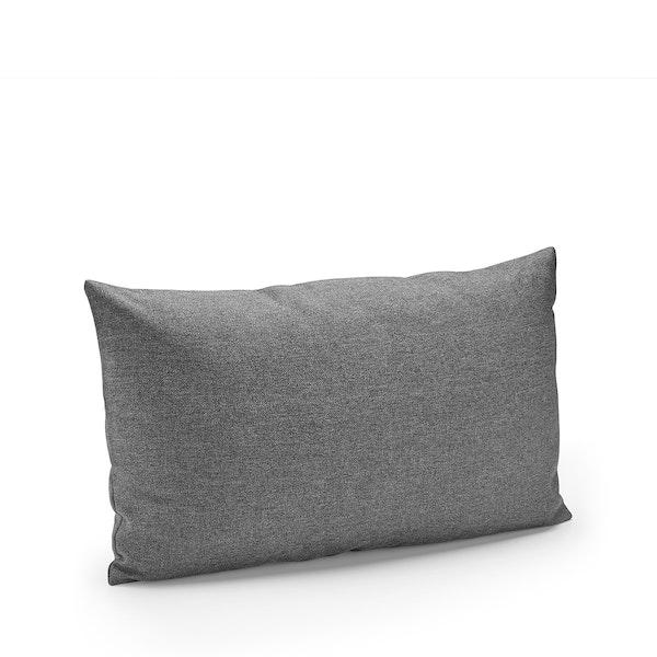 Dark Gray Block Party Lumbar Pillow,Gray,hi-res