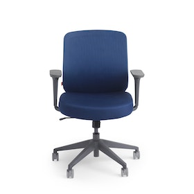 Navy Max Task Chair, Mid Back, Charcoal Frame,Navy,hi-res