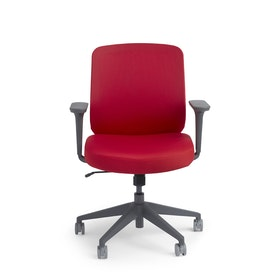 Red Max Task Chair, Mid Back, Charcoal Frame,Red,hi-res