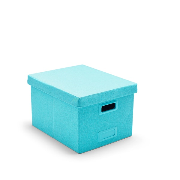 Aqua Large Storage Box,Aqua,hi-res