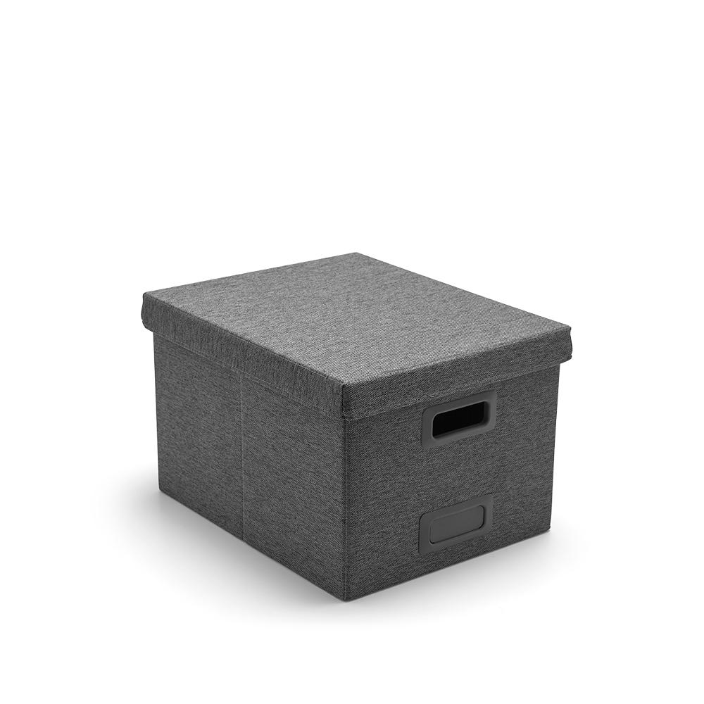 office file boxes. Dark Gray Large Storage Box,Dark Gray,hi-res Office File Boxes