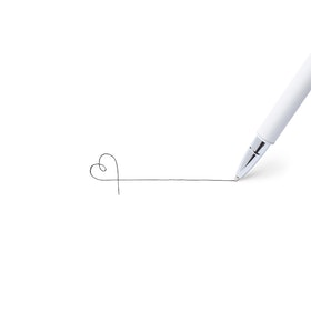 White Heavy Weight Metal Pen,White,hi-res