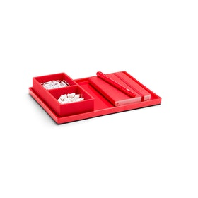 Red Medium Slim Tray,Red,hi-res