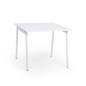 "Series A Standing Double Desk for 2, White, 47"", White Legs,White,hi-res"