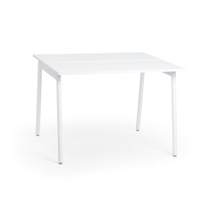 "Series A Standing Double Desk for 2, White, 57"", White Legs,White,hi-res"