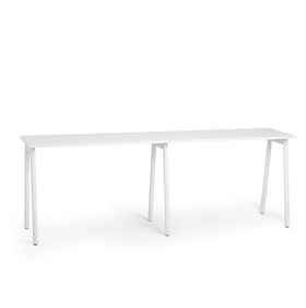 "Series A Standing Single Desk for 2, White, 57"", White Legs,White,hi-res"