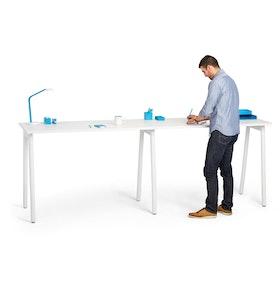 "Series A Standing Single Desk for 2, White, 57"", White Legs,White,hi-res"