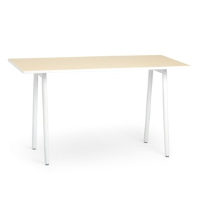 "Series A Standing Meeting Table, Light Oak, 72"" x 36"", White Legs,Light Oak,hi-res"
