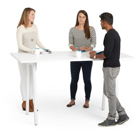 "Series A Standing Meeting Table, White, 72x36"", White Legs,White,hi-res"