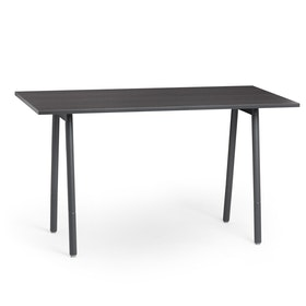 "Series A Standing Meeting Table, Dark Oak, 72"" x 36"", Charcoal Legs,Dark Oak,hi-res"