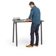 "Series A Standing Single Desk for 1, Dark Oak, 47"", Charcoal Legs,Dark Oak,hi-res"
