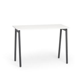 "Series A Standing Single Desk for 1, White, 57"", Charcoal Legs,White,hi-res"