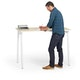 "Series A Standing Single Desk for 1, Light Oak, 57"", White Legs,Light Oak,hi-res"