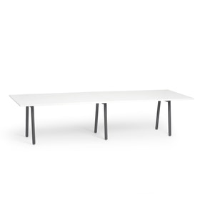 "Series A Conference Table, White, 124"" x 42"", Charcoal Legs,White,hi-res"