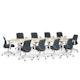 "Series A Conference Table, Light Oak, 124"" x 42"", White Legs,Light Oak,hi-res"