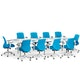 "Series A Conference Table, White, 124"" x 42"", White Legs,White,hi-res"