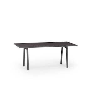 "Series A Executive Desk, Dark Oak, 72"" x 36"", Charcoal Legs,Dark Oak,hi-res"