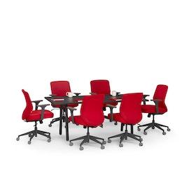 """Series A Conference Table, Dark Oak, 72"""" x 36"""", Charcoal Legs,Dark Oak,hi-res"""