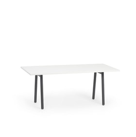 "Series A Executive Desk,  White, 72"" x 36"", Charcoal Legs,White,hi-res"