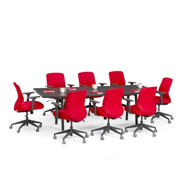 """Series A Conference Table, Dark Oak, 96"""" x 42"""", Charcoal Legs,Dark Oak,hi-res"""