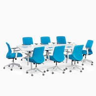 """Series A Conference Table, White, 96"""" x 42"""", White Legs,White,hi-res"""