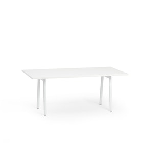 "Series A Executive Desk, White, 72"" x 36"", White Legs,White,hi-res"