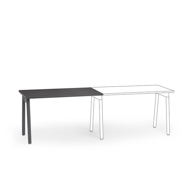 "Series A Single Desk Add On, Dark Oak, 47"", Charcoal Legs,Dark Oak,hi-res"
