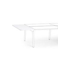 "White Series A Desk Top Extension, 56"" x 22"",White,hi-res"