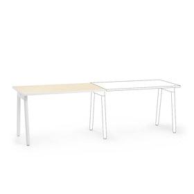 """Series A Single Desk Add On, Light Oak, 47"""", White Legs,Light Oak,hi-res"""