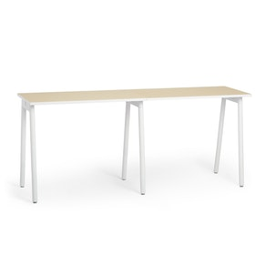 "Series A Standing Single Desk for 2, Light Oak, 47"", White Legs,Light Oak,hi-res"