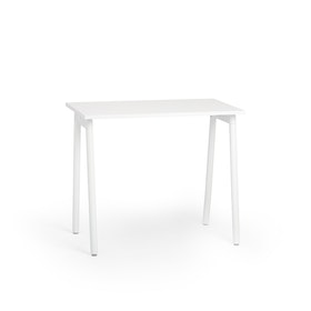 "Series A Standing Single Desk for 1, White, 47"", White Legs,White,hi-res"