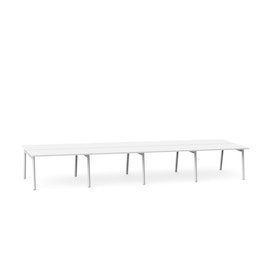 "Series A Double Desk for 8, White, 47"", White Legs,White,hi-res"