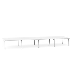 "Series A Double Desk for 8, White, 57"", White Legs,White,hi-res"