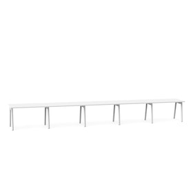 "Series A Single Desk for 5, White, 47"", White Legs,White,hi-res"