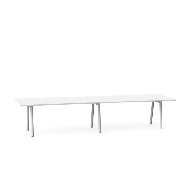 "Series A Conference Table, White, 144"" x 36"", White Legs,White,hi-res"