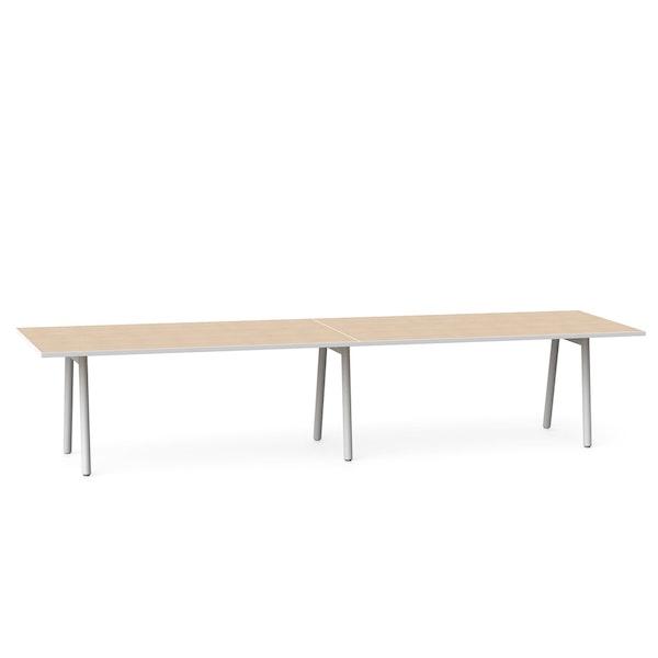 "Series A Conference Table, Light Oak, 144"" x 36"", White Legs,Light Oak,hi-res"