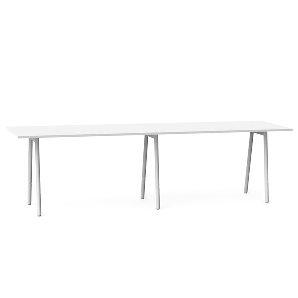 "Series A Standing Meeting Table, White, 144"" x 36"", White Legs,White,hi-res"