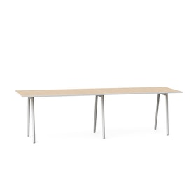 "Series A Standing Meeting Table, Light Oak, 144"" x 36"", White Legs,Light Oak,hi-res"