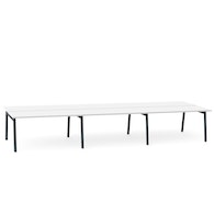 "Series A Double Desk for 6, White, 57"", Charcoal Legs,White,hi-res"