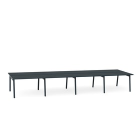 "Series A Double Desk for 8, Dark Oak, 47"", Charcoal Legs,Dark Oak,hi-res"