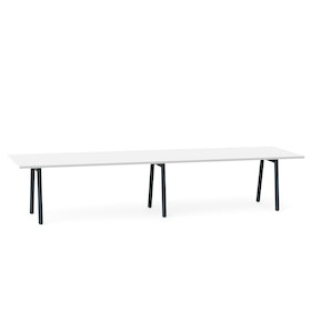"Series A Conference Table, White, 144"" x 36"", Charcoal Legs,White,hi-res"