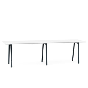 "Series A Standing Meeting Table, White, 144"" x 36"", Charcoal Legs,White,hi-res"