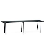 "Series A Standing Meeting Table, Dark Oak, 144"" x 36"", Charcoal Legs,Dark Oak,hi-res"