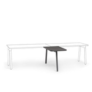 """Series A Return Add On for 57"""" Single Desk, Charcoal,,hi-res"""