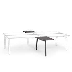 "Series A 2 Returns Add On for 57"" Dark Oak Double Desk, Charcoal Legs,Dark Oak,hi-res"