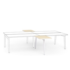 "Series A 2 Returns Add On for 57"" Light Oak Double Desk, White Legs,Light Oak,hi-res"